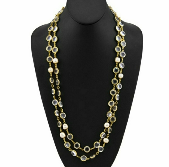 c791fc8529b CHANEL Jewelry | Vintage 1981 Crystal Pearl Necklace | Poshmark